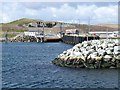 HU5894 : Approaching the ferry landing on Fetlar by Oliver Dixon