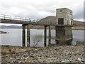 NH3370 : Intake pier at Loch Glasgarnoch Reservoir by M J Richardson