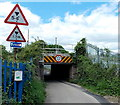 ST4787 : Low bridge near Caldicot railway station by Jaggery