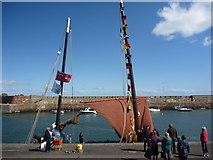 NT6779 : Coastal East Lothian : FR958 Reaper Visits Victoria Harbour, Dunbar by Richard West