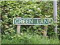 TG1720 : Green Lane sign by Adrian Cable