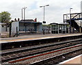 SO7038 : Two shelters, Ledbury railway station by Jaggery