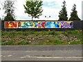 SJ8993 : Reddish South Mural by Gerald England