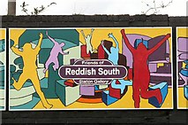 SJ8993 : Reddish South Mural (Panel 3 of 5) by Gerald England