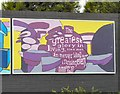 SJ8993 : Reddish South Mural (Panel 5 of 5) by Gerald England