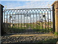 NB4832 : Wrought-iron gates at St Columba's Church, Uidh by M J Richardson