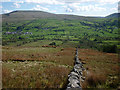 SD7088 : Drystone wall, North Lord's Land by Karl and Ali