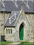 NY9449 : St. James's Church, Hunstanworth - porch by Mike Quinn