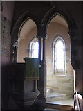 NY9449 : St. James's Church, Hunstanworth - pulpit by Mike Quinn
