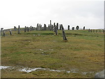 NB2133 : Standing stones at Calanais by M J Richardson