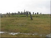 NB2133 : Standing stones at Calanais by M J Richardson