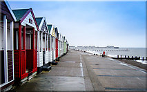 TM5176 : Huts on the promenade by Kim Fyson
