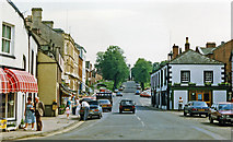 NY6820 : Appleby-in-Westmorland: in town centre, 1986 by Ben Brooksbank