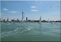 SZ6299 : Boats in Portsmouth Harbour by Paul Gillett