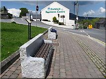 J0115 : Amenity seating on Main Street, Forkhill by Eric Jones