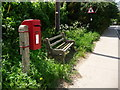 ST6412 : Longburton: postbox № DT9 100 by Chris Downer