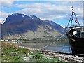 NN1076 : Ben Nevis from the abandoned fishing boat at Corpach by Steve  Fareham