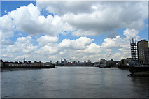 TQ3680 : River Thames from Limehouse by Chris Heaton
