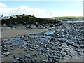 SN6089 : Part of the new sea defences on Borth Beach by Penny Mayes