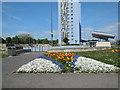 SZ6299 : Flowerbed on Gosport esplanade by Paul Gillett