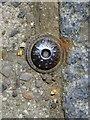 SZ0099 : Wimborne Minster: survey point on High Street by Chris Downer