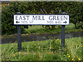 TM1136 : East Mill Green sign by Adrian Cable