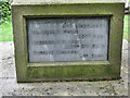 TL2518 : North Inscription, War Memorial, Woolmer Green by Chris Reynolds