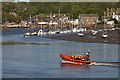 NX6751 : An RNLI boat on the River Dee, Kirkcudbright by Walter Baxter