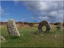 SW4234 : Four stones of Men-an-Tol by Debbie J