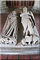 TF0836 : Sir Lambert de Trikyngham and wife, St Peter's church by J.Hannan-Briggs