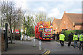 SP9211 : Lorry carrying Ferris Wheel parked beside the Library - Tring Carnival by Chris Reynolds