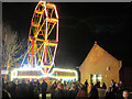 SP9211 : Ferris Wheel and Public Library during Tring Carnival by Chris Reynolds