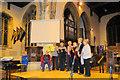 SP9211 : Hand Bell ringing in Tring Parish Church during the Carnival by Chris Reynolds