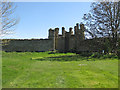 SE7069 : Ruined tower, bastion wall by Pauline E