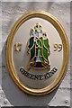 TL4458 : Greene King logo by Philip Halling