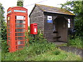 TM1338 : Telephone Box White Horse Postbox & Bus Shelter by Adrian Cable