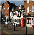 SO5039 : Grade II listed The Orange Tree and Grade II listed phonebox, Hereford by Jaggery
