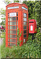 TM1338 : Telephone Box & White Horse Postbox by Adrian Cable