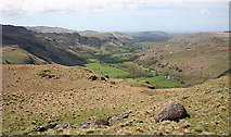 NY2101 : Eskdale from near Yew Crags by Anne Burgess