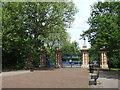 TQ3583 : Victoria Park gates, Bethnal Green by Malc McDonald