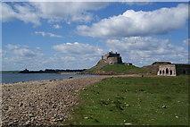 NU1341 : Lindisfarne Castle from Castle Point by Bill Boaden