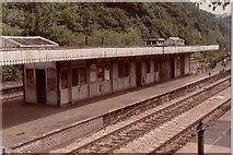 SK3281 : Dore (& Totley) railway station, Sheffield, 1979 by Nigel Thompson