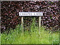 TM1341 : Chapel Lane sign by Adrian Cable
