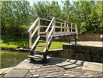 SE2833 : Leeds and Liverpool Canal, Bridge over Lock #3 by David Dixon