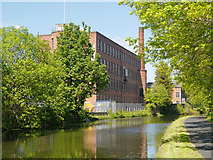 SE2833 : Leeds and Liverpool Canal, Canal Mills by David Dixon