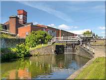 SE2833 : Oddy Locks and Canal Mills, Leeds and Liverpool Canal by David Dixon