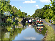 SE2833 : Leeds and Liverpool Canal, Approaching Spring Garden Lock (#6) by David Dixon