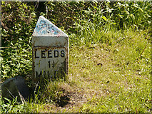 SE2833 : Milestone Marker, Leeds and Liverpool Canal by David Dixon