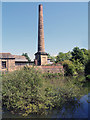 SE2734 : Goit and Chimney, Armley Mills by David Dixon