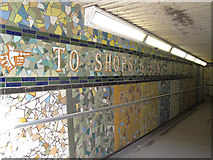 TQ3952 : Station subway mosaic, Oxted by Stephen Craven